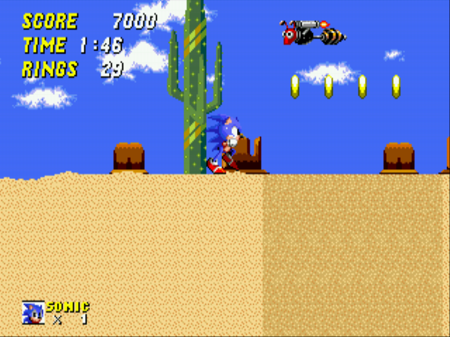 Sonic 2 - The Lost Worlds - Quicksand: 7 (Y SO MANY QUICKSAND?) - User Screenshot