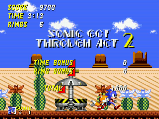 Sonic 2 - The Lost Worlds - Moving whilst results are on! - User Screenshot