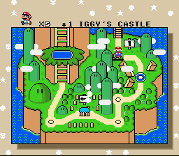 Super Mario All-Stars  Super Mario World - Defeated Iggy, Now Advancing to Donut Land. - User Screenshot