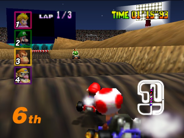 Mario Kart 64 - toad is hiting me with his head - User Screenshot