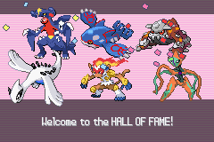 Pokemon Platinum - wohoo beat the elite four. - User Screenshot