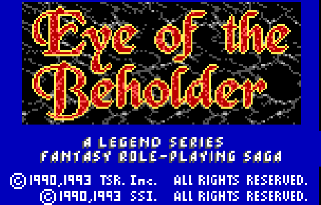 Play <b>Eye of the Beholder (Unlreleased)</b> Online