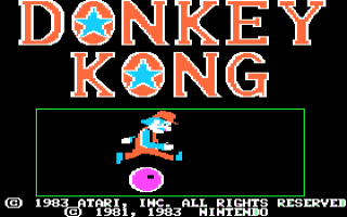 Donkey Kong Title Screen