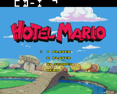 Hotel Mario Title Screen