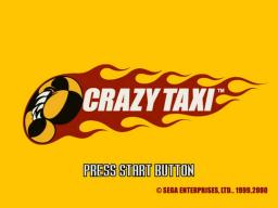 Crazy Taxi Title Screen