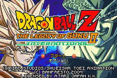 Dragon Ball Z - The Legacy of Goku II International Title Screen