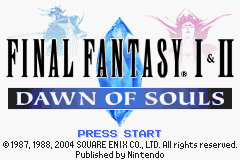 Final Fantasy I & II - Dawn of Souls
