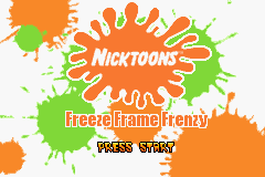 Nicktoons - Freeze Frame Frenzy Title Screen