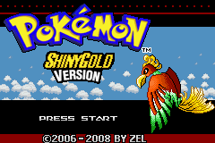 Pokemon Shiny Gold Title Screen