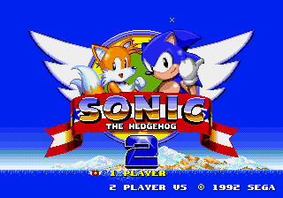 Sonic 2 - Christmas Edition Title Screen