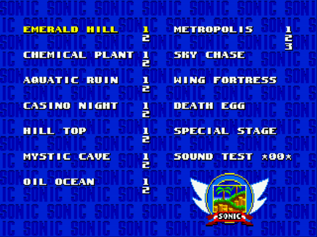 Sonic 2 - Secret Rings Control Screenthot 2