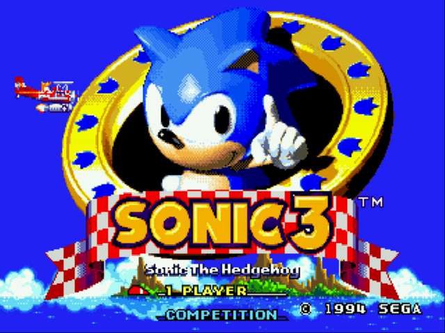 Sonic 3 Complete Title Screen