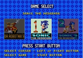 Sonic Classics (Compilation) Title Screen