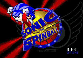 Sonic Spinball Title Screen