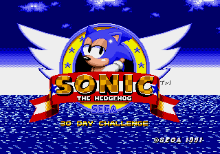 Sonic the Hedgehog - 30 Day Challenge