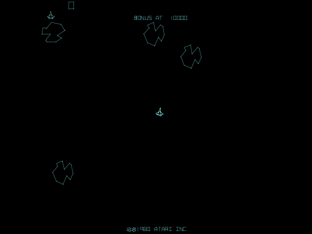 Asteroids Deluxe (rev 3) Screenshot 1