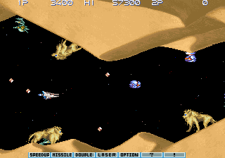 Gradius III (World, program code R) Screenshot 1