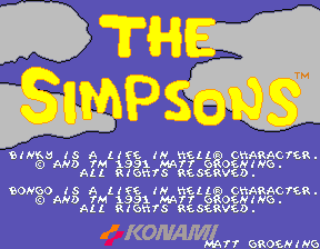 The Simpsons (4 Players World, set 1) Title Screen