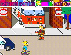 The Simpsons (4 Players World, set 1) Screenshot 1