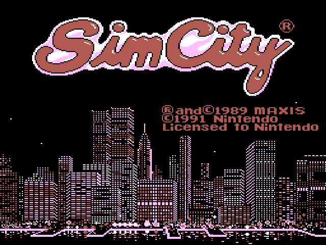 SimCity (Unreleased) Title Screen