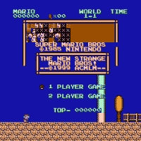 Strange Mario Bros 1 Title Screen
