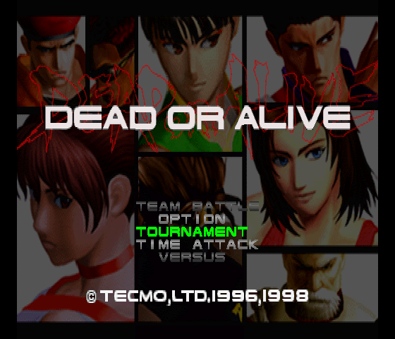 Dead or Alive Title Screen