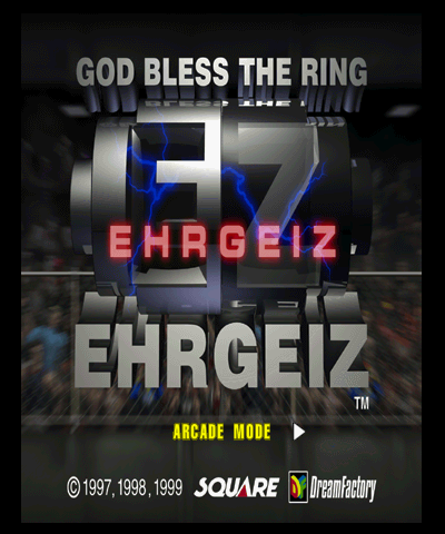 Ehrgeiz: God Bless the Ring Title Screen