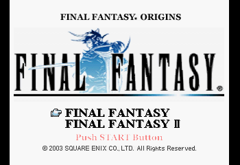 Final Fantasy Origins Title Screen