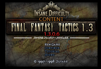 Final Fantasy Tactics 1.3 - Easy Type Title Screen