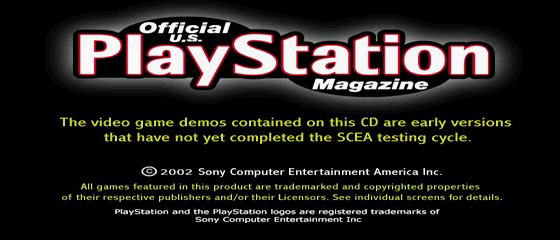 Official U.S. PlayStation Magazine Demo Disc 54