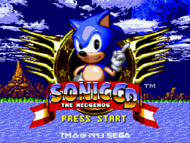 Sonic CD (european version) Title Screen
