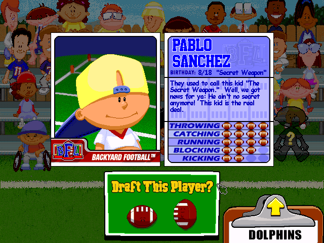Backyard Football Video Game play backyard football online pc game rom - windows emulation on