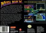 Mega Man X Box Art Back