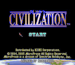 Civilization Title Screen