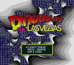 Dynamaite the Las Vegas Title Screen