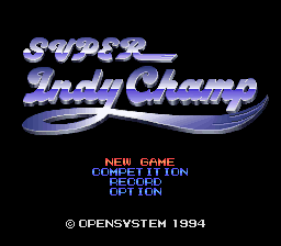 Super Indy Champ Title Screen