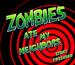 Zombies Ate My Neighbors Title Screen
