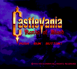 Castlevania - Rondo of Blood (english translation) Title Screen