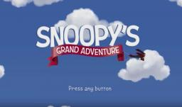Snoopy's Grand Adventure Title Screen