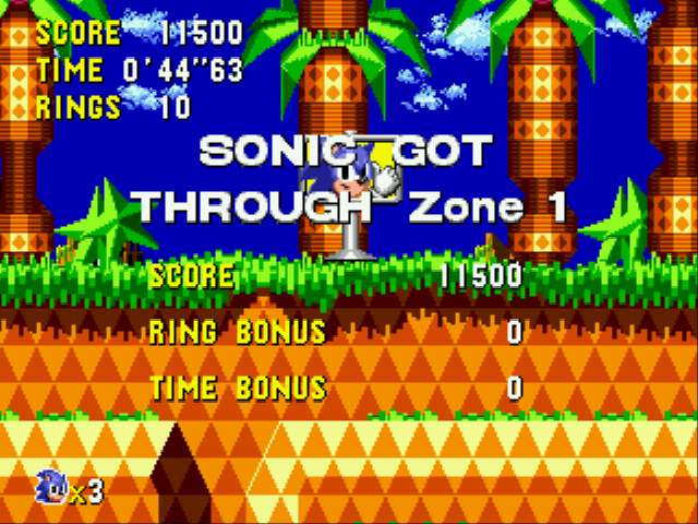Sonic CD (european version) - time is 44 seconds - User Screenshot