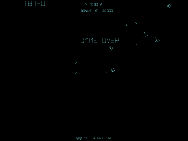 Asteroids Deluxe (rev 3) -  - User Screenshot