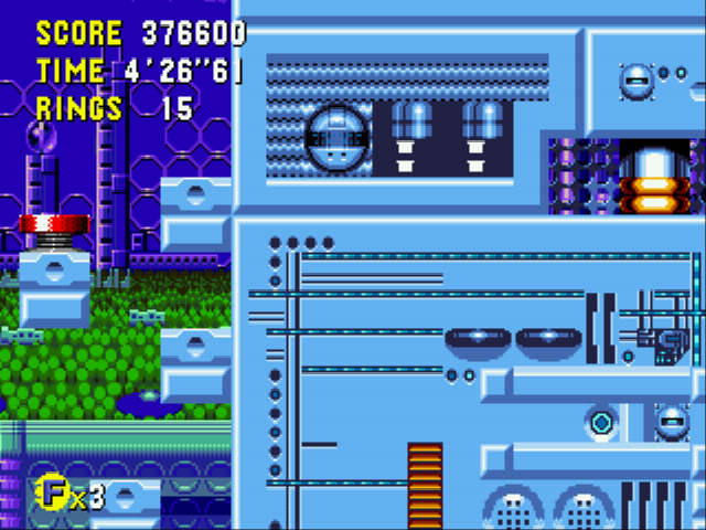 Sonic CD (european version) - Stuck in a wall..... - User Screenshot