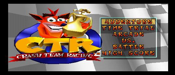 Crash Team Racing - Introduction  - Title Screen - User Screenshot