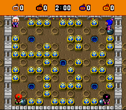 Super Bomberman - Level Stage 11: Warp Zone - Stage 11: Warp Zone - User Screenshot