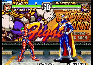 Voltage Fighter Gowcaizer Choujin Gakuen Gowcaizer Mame Game