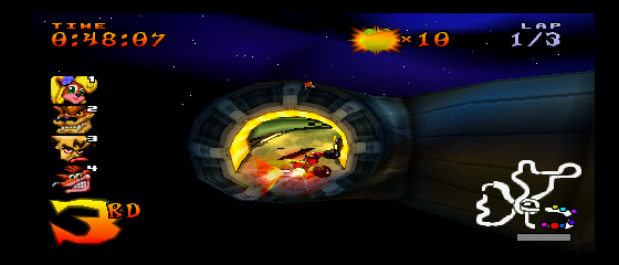 Crash Team Racing - Level Oxide Station - Mid-Air Space Jump  - User Screenshot