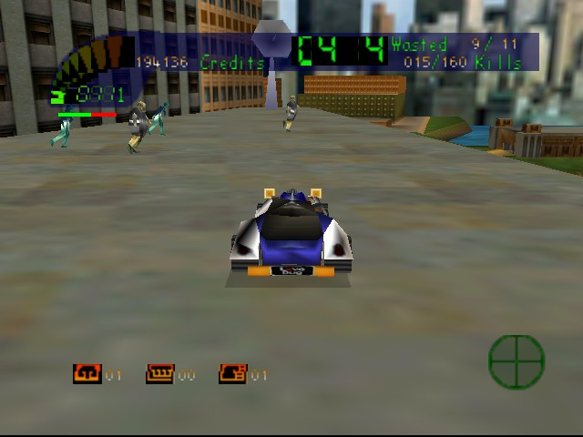 Carmageddon 64 - World Map  - kickin it real in the bug - User Screenshot