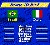 FIFA International Soccer - Character Select  - Team Select - User Screenshot