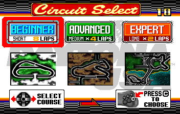 Daytona USA - Level Select  -  - User Screenshot