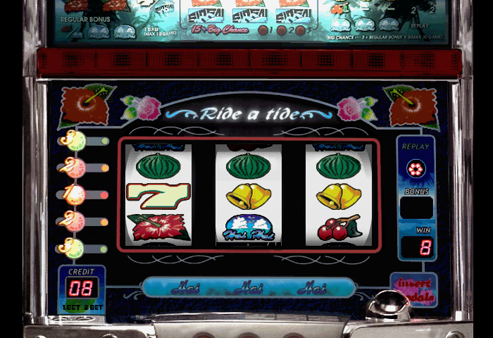 three melons won on the ride a tide slot mach